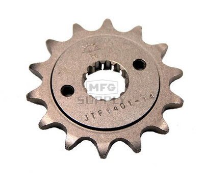 JTF1401-14 - Kawasaki ATV 14 tooth front sprocket. Fits 03-05 KFX400