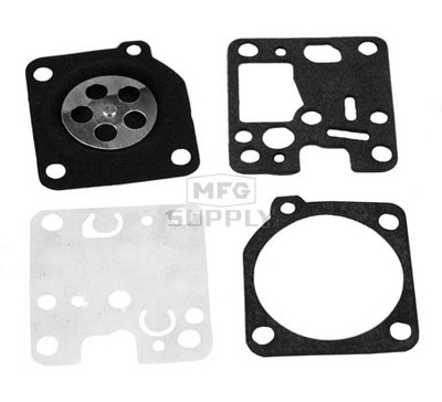 38-13063 - Gasket & Diaphragm kit replaces Zama GND-52.