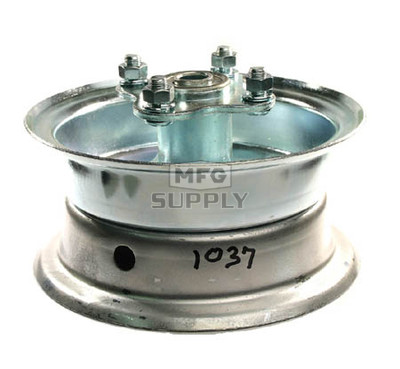"AZ1037 - 6"" 2 piece Steel Wheel, 3-1/4"" wide, 5/8"" ID Bearing, flanged hub"