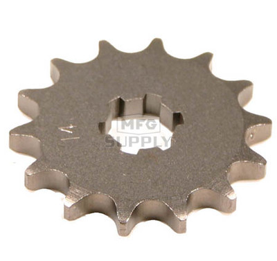 KS003415 - Yamaha ATV 14 tooth front sprocket. Fits 80-81 YT125 Tri-Moto