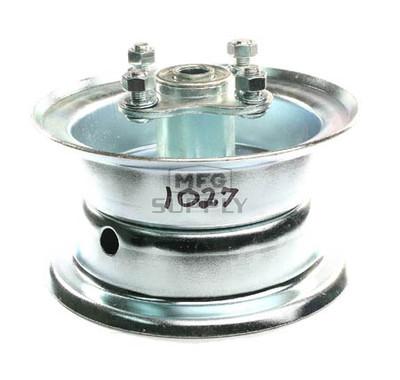 "AZ1027 - 5"" 2 piece Steel Wheel, 3-1/4"" wide, 5/8"" ID Bearing, flanged hub"