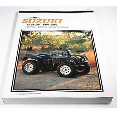CM343 - 98-00 Suzuki LTF500F Quad Runner 4x4 Repair & Maintenance manual.