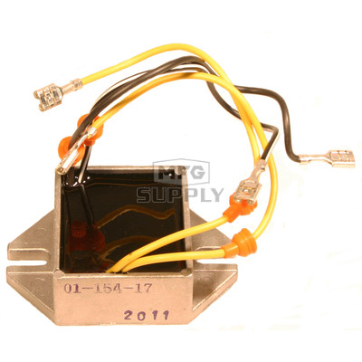 01-154-17 - Ski-Doo Voltage Regulator replaces 515-1754-91. Manual start only models.