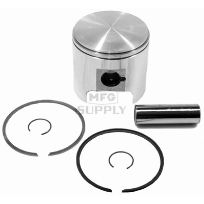 09-761 - OEM Style Piston assembly for 78-95 Ski-Doo 437 & 463 twin. Std size.