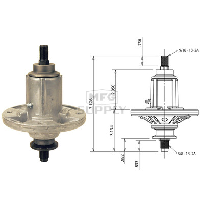 10-12910 - Spindle Assembly for John Deere