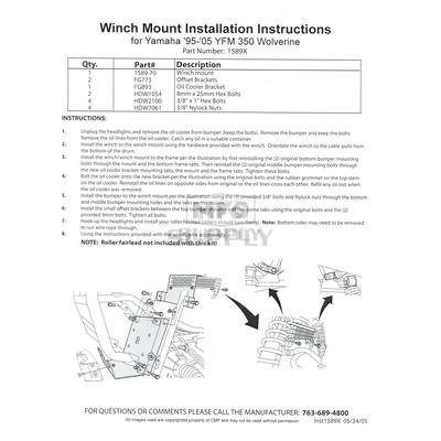 runva winch installation instructions