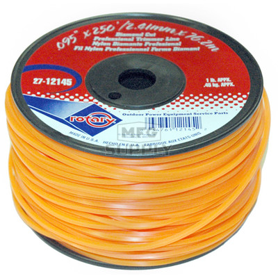27-12145-Orange Diamond Cut Professional Trimmer Line