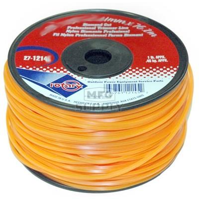 27-12146-Orange Diamond Cut Professional Trimmer Line