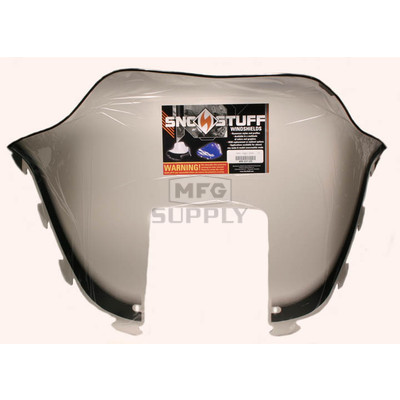 "450-231-03 - Polaris Medium 12"" Windshield Graphic Smoke. Old Generation Style Hood."