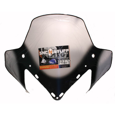 "450-651-10 - Yamaha med 15-1/2"" Black Graphics on Clear Windshield. RX-1, RS Vector, Rage."