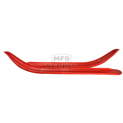 "501-201-82 - Polaris Ski Skins 3/16"" Red. (Pair). Fits 93-01 Steel Skis."