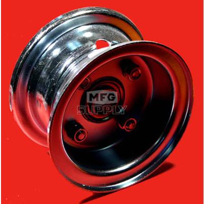 """AZ1031 - 4"""" Steel Wheel, 2-7/8"""" wide, 3/4"""" ID Bearing"""