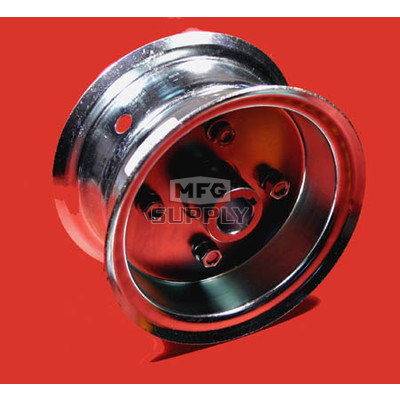 "AZ1034 - 6"" Steel Wheel, 3-9/16"" wide, 1"" live axle."