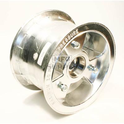 "AZ1106 - 6"" Aluminum Wheel, 4"" wide, 3/4"" ID Tapered Bearing"