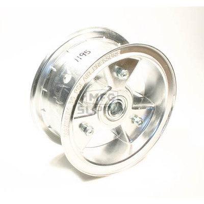 "AZ1195 - 6"" Aluminum Wheel, 3"" wide, 3/4"" ID Bearing"