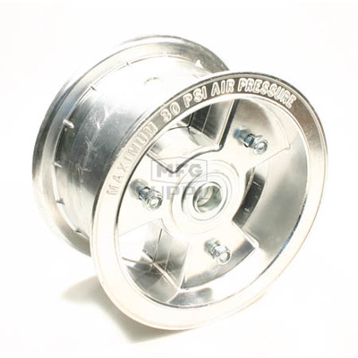 "AZ1199 - 6"" Aluminum Wheel, 3-1/2"" wide, 3/4"" ID Bearing"