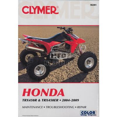 CM201 - 04-09 Honda TRX450R / TRX450ER Repair & Maintenance manual.