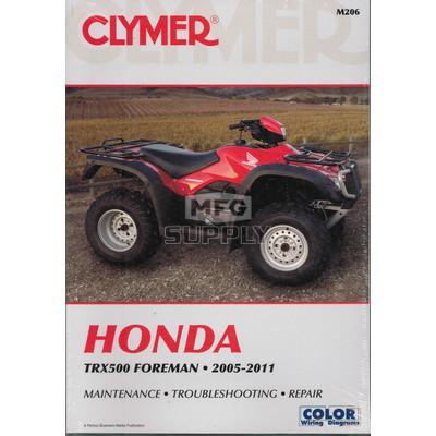 CM206 - 05-11 Honda TRX500 Foreman Repair & Maintenance manual.