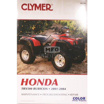 CM210 - 01-04 Honda TRX500 Rubicon Repair & Maintenance manual.