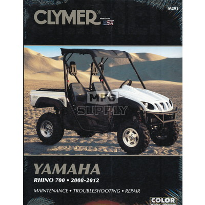 CM291 - 08-12 Yamaha Rhino 700 Repair & Maintenance manual.