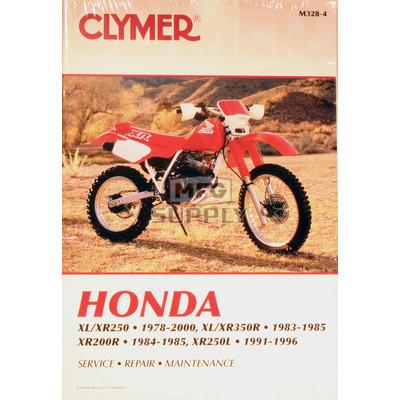 CM328 - 78-00 Honda XL250-350, XR250-350 & 84-85 XR200R Repair & Maintenance manual