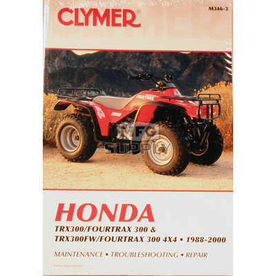 CM346 - 88-00 Honda TRX300 & TRX300FW Repair & Maintenance manual