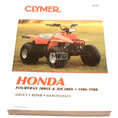 CM347 - 86-88 Honda ATC200X/TRX200SX Repair & Maintenance manual.