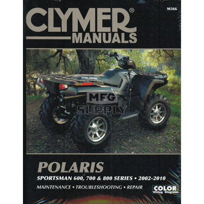 CM366 - 02-10 Polaris Sportsman 600, 700 & 800 series Repair & Maintenance manual.