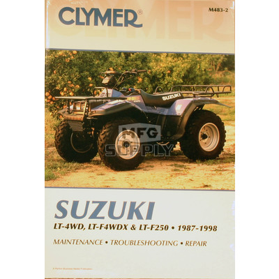 CM483 - 88-97 Suzuki LTF250/LT4WD/LT4WDX Repair & Maintenance manual.