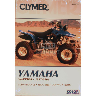 CM487 - 87-04 Yamaha YFM350X Warrior Repair & Maintenance manual.