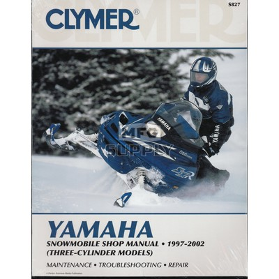 CS827 - 97-02 Yamaha Snowmobile Shop Manual (3-cylinder models)
