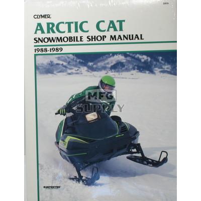 CS835 - 88-89 Arctic Cat  Wildcat & El Tigre EXT Snowmobile Shop Manual