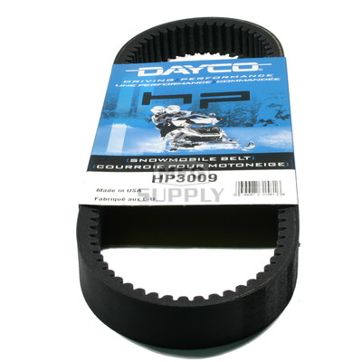 HP3009 - Kawasaki/Sno-Jet Dayco HP (High Performance) Belt. Fits many 72-77 Kawasaki & Sno-Jet Snowmobiles.