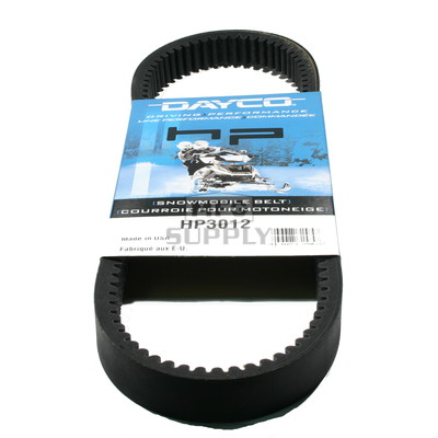 HP3012-W1 - John Deere Dayco HP (High Performance) Belt. Fits 76-84 John Deere Snowmobiles.