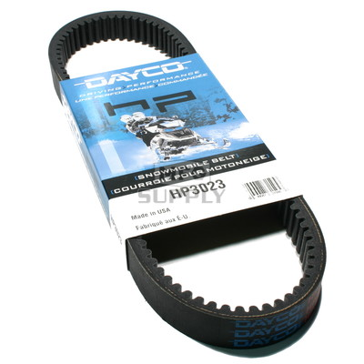 HP3023 - Ski-Doo Dayco HP (High Performance) Belt. Fits 84-03 mid power Ski Doo Snowmobiles.