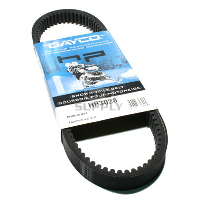 HP3028 - Polaris Dayco HP (High Performance) Belt. Fits 90 Indy Sport, 92 Indy Lite Deluxe.