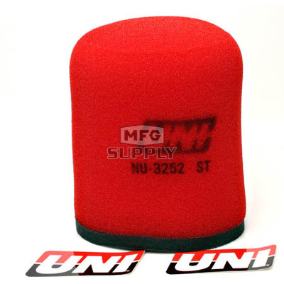 NU-3252ST - Uni-Filter Two-Stage Air Filter for Yamaha 04 and newer YFZ 450