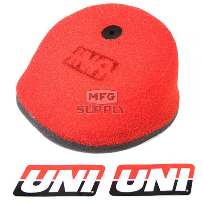 NU-4112ST - Uni-Filter Air Filter. For 97-05 Honda CRF & XR 50/70 (Hi-Flow), 89-01 CR125, 88-01 CR250, 89-02 CR500