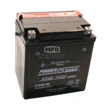 PIX30L-BS - Maintenance Free Battery for Polaris ATVs & Snowmobiles