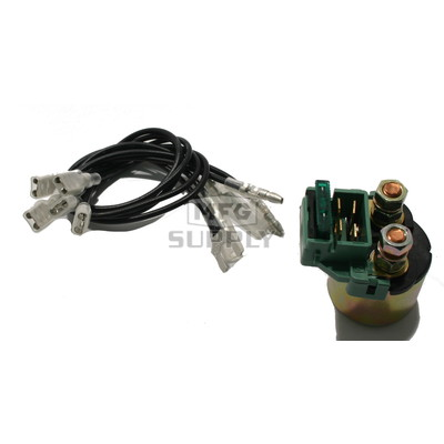 SND6058 - Universal 12V ATV/UTV Solenoid with multiple leads for many applications