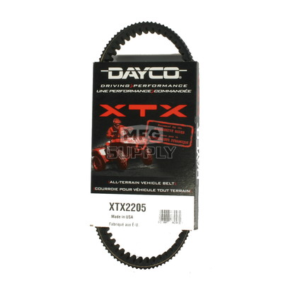 XTX2205 - Yamaha Dayco XTX (Xtreme Torque) Belt. Fits Yamaha Kodiak, Bruins, Grizzly 400/450 & Rhino 450 models.