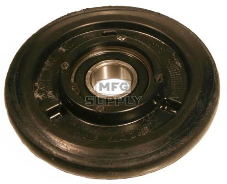 "04-0180-20 - Ski-Doo 7.125"" (180mm) Black Idler Wheel with 6205 series bearing (25mm ID)"