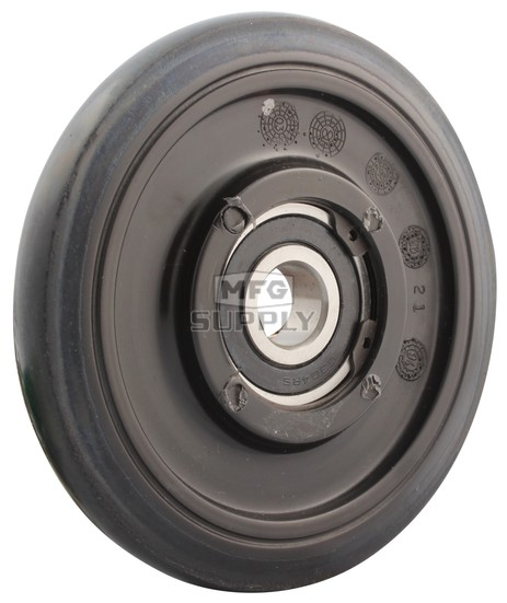"04-116-81 - Arctic Cat 5.630"" (143mm) Black Idler Wheel with 6304 series bearing (20mm ID)"