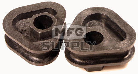 04-297-04S - Arctic Cat Spring Adjustment Blocks (2 pc set). Fit most 1992-current Snowmobiles.