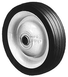 "6-273 - 5"" X 1.25"" Steel Wheel with 1/2"" ID Ball Bearing (Rib Tread)"