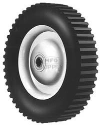 """6-279 - 8"""" X 1.75"""" Steel Wheel with 1/2"""" ID Ball Bearing (Lug Tread)"""