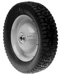 "6-8262 - 8"" X 1.625"" Snapper 26182 and Tru-Cut 52060 Steel Wheel with 7/16"" ID Bearing (Radial Tread)"