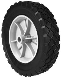 "7-8927 - 8"" X 1.75"" Snapper 22374 Plastic Wheel with 9/16"" Center Hole (Diamond Tread)"