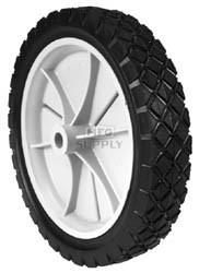 "7-8929 - 9"" X 1.75"" Snapper 22796 Plastic Wheel with 9/16"" Center Hub (Diamond Tread)"