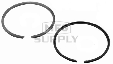 R09-748 - OEM Style Piston Rings. 72-79 Ski-Doo & Moto-Ski 340 twin. For either left or right side. Std size.